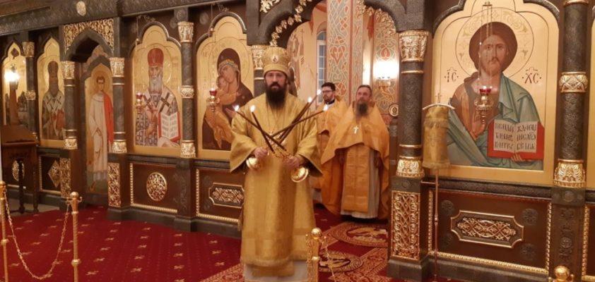 Епископ Агафангел совершил Божественную литургию в храме новомучеников и исповедников Церкви Русской города Норильска
